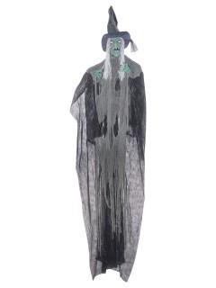 Fiese Horror Hexe Halloween Mega-Deko schwarz-grau-grün 365x180cm