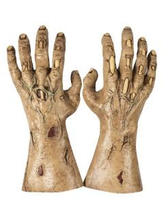 Zombie-Hände Handschuhe für Halloween hautfarben