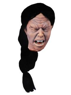 Abgehackter Vampir-Kopf Halloween Party-Deko haut-schwarz 30x25cm