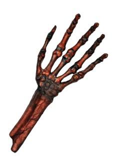 Verrottete Zombie-Skelett-Hand Halloween Party-Deko braun-schwarz 30x13cm