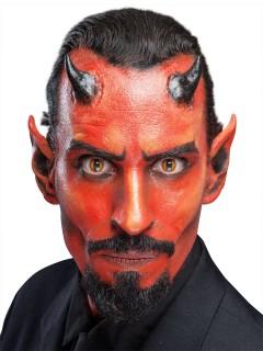 Teufel-Hörner Halloween Latexapplikation Dämon haut
