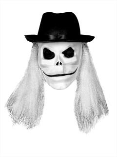 Blade-Maske mit Haaren Puppet Master™ weiss-schwarz