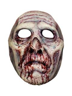 Bruce Spaulding Fuller Zombie Latex-Halbmaske Lizenzartikel grau-rot