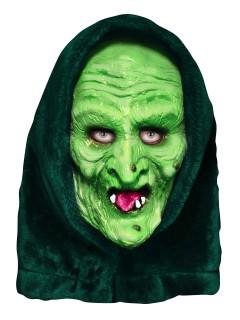 Latex-Hexenmaske Halloween 3 Lizenzartikel grün