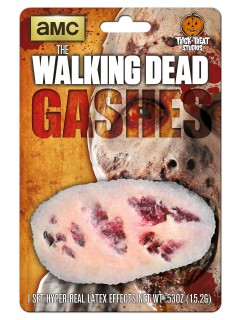 The Walking Dead Blutige Wunde Latex-Applikation Lizenzartikel beige-rot