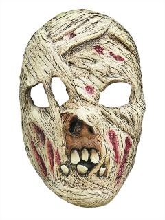 Bandagierte Zombie-Maske Halloween-Maske Mumie weiss