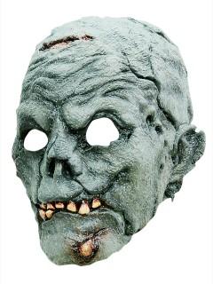 Erschreckende Zombie-Maske Halloweenmaske blau