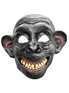 Verrückter Affe Halbmaske grau