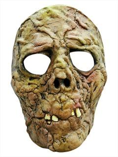 Vermoderter Zombie Latex-Halbmaske grün-braun