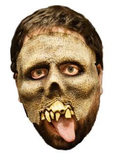 Untoten-Maske Skelett-Vogelscheuchen-Maske beige