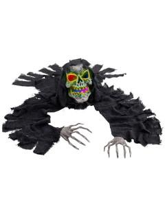 Groundbreaker Skelett mit Leuchtaugen Halloween-Party-Deko schwarz-grau 120cm