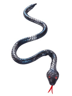 Gruselige Schlange Halloween Party-Deko biegsam silber-schwarz 100cm