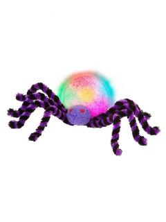Süsse Riesenspinne mit Farbwechsel Halloween-Party-Deko schwarz-lila 30cm