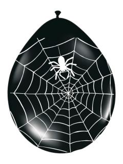 Spinnen-Luftballons Halloween Party-Deko 8 Stück schwarz-weiss 30cm