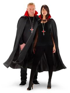 Vampir-Umhang mit Leuchtfunktion Halloween schwarz