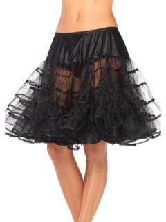 Petticoat Tüll-Rock mit Rüschen knielang schwarz