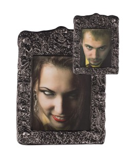 Schauriger Bilderrahmen Halloween Party-Deko Vampirin bunt 20x26cm