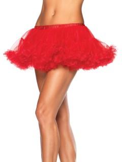 Mini-Petticoat Tüll-Rock Kostüm-Accessoire rot