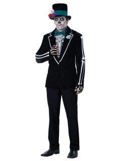 Day of the Dead Skelett Halloweenkostüm schwarz-weiss
