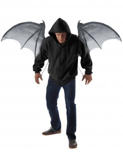 Dämonen Fledermaus-Flügel schwarz-grau 122cm