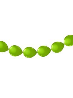 Luftballon-Kette 8 Stück grün 30 cm