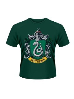 Harry Potter Slytherin T-Shirt Lizenzartikel grün-grau