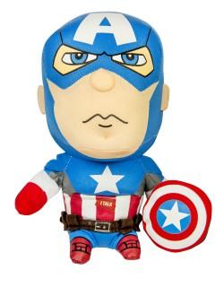 Captain America™-Plüschfigur Marvel™ Lizenzprodukt blau-weiss-rot 20cm