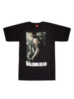 The Walking Dead T-Shirt Daryl Lizenzware schwarz-bunt