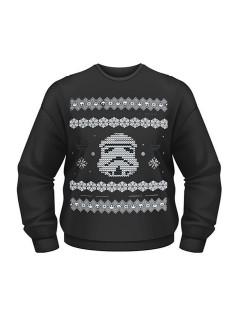 Star Wars™-Pullover Weihnachten Stormtrooper Lizenzware schwarz-weiss