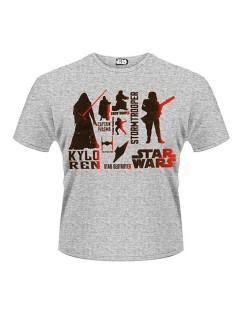 Star Wars™-T-Shirt Dunkle Seite der Macht Lizenzprodukt grau-schwarz