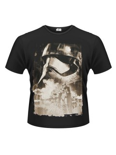 Captain Phasma™-T-Shirt Star Wars VII™ schwarz-grau
