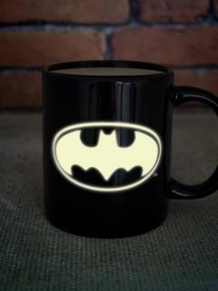 Batman™-Tasse Lizenzprodukt Geschenkidee schwarz-weiss 300ml