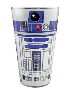 R2-D2-Glas Star Wars™ Tischdeko transparent-blau 500ml