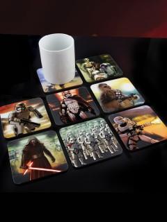Star Wars™-Untersetzer 8-teilig bunt 10x10cm