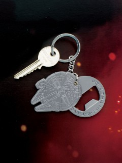 Star Wars™-Schlüsselanhänger Millenium Falcon grau 5,5x4cm