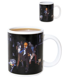 Zombie-Kaffeetasse mit Farbwechsel bunt 300ml