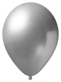 Luftballons 24 Stück metallic-silber 33cm