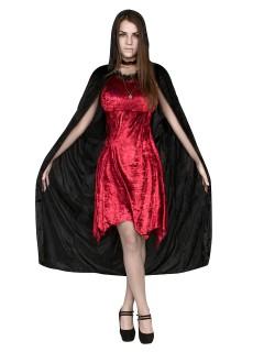 Düstere Vampirgräfin Halloween-Damenkostüm rot-schwarz
