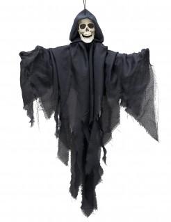 Schwebender Skelett-Geist Halloween-Hängedeko grau 90 cm