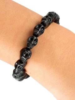Skull-Armband Halloween-Schmuck Gothic grau