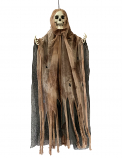 Alter Geist Halloween-Hängedeko Skelett schwarz-weiss 64x56x1,5cm