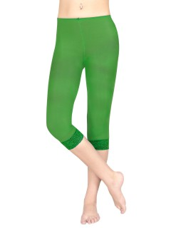 Damen-Leggings mit Spitze grün