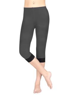 Leggings mit Spitze für Damen Accessoire grau-schwarz