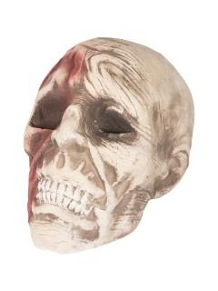 Leichen-Schädel Halloween-Deko Totenkopf haut-rot 15x18x16cm