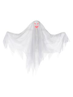 Leuchtender Geist Halloween-Hängedeko weiss-bunt 47cm