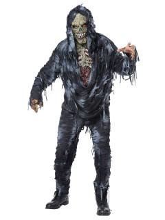 Verrotteter Zombie Halloweenkostüm Leiche grau-schwarz