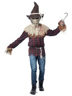 Horror Vogelscheuche Halloweenkostüm braun-rot