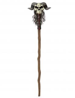 Hexenmeister Skull-Stab Sensenmann braun-beige 147cm
