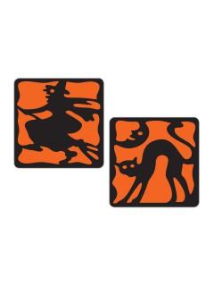 Tisch-Untersetzer Halloween Party-Deko 8 Stück schwarz-orange 7,6cm
