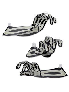 Schaurige 3D Skelett-Hand Halloween Party-Deko schwarz-weiss 38cm